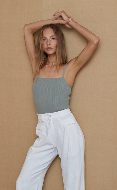 PENNY KNIT TOP - SAGE