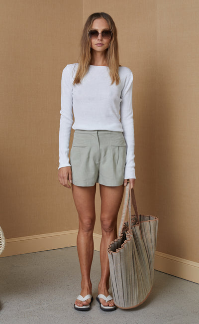 PHOEBE SHORT - LIGHT KHAKI