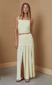 ISLA MIDI SKIRT - BUTTER