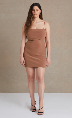 MADDISON MINI DRESS - MILK CHOCOLATE