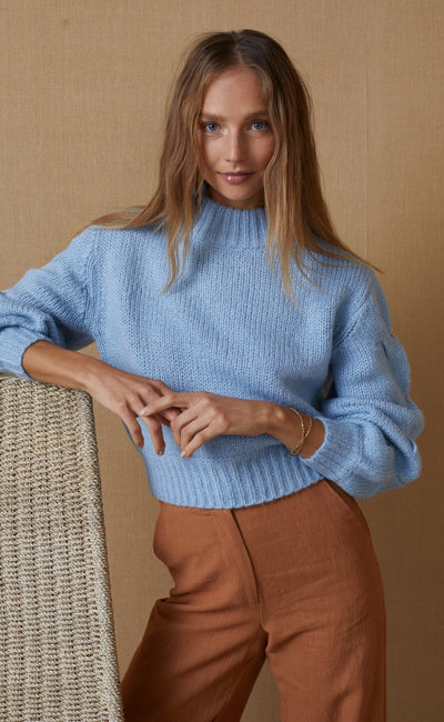 CELESTE KNIT JUMPER - SKY BLUE