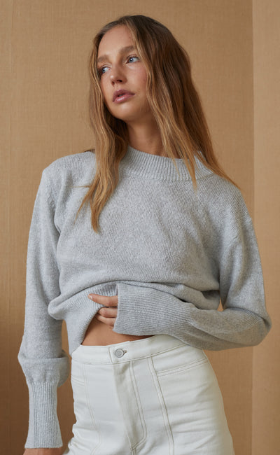 EVA KNIT JUMPER - GREY MARLE