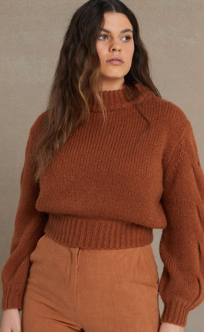 CELESTE KNIT JUMPER - CLAY