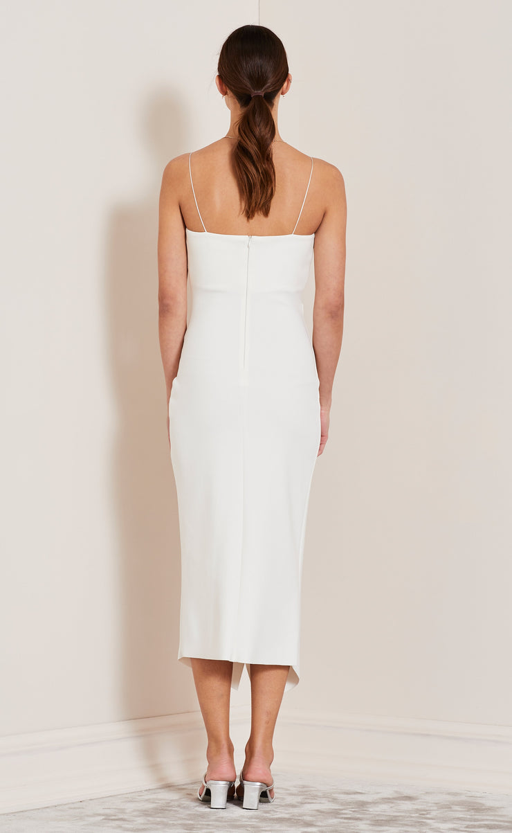 BE MINE FIXED WRAP DRESS - IVORY