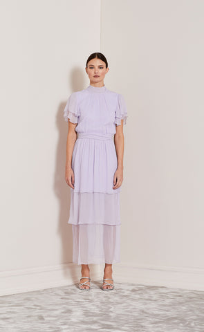 ENDLESS LOVE TIERED DRESS - LILAC