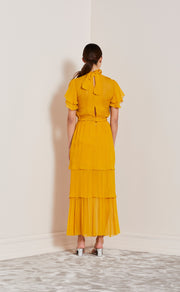 ENDLESS LOVE TIERED DRESS - MARIGOLD