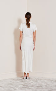 HEARTBEAT COLLAR DRESS - IVORY