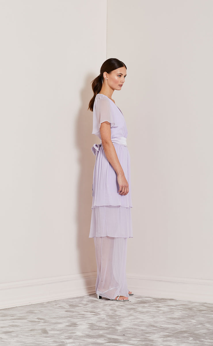 ENDLESS LOVE FIXED WRAP DRESS - LILAC