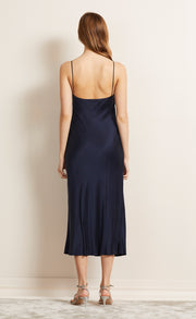 HEARTBEAT SLIP DRESS - NAVY