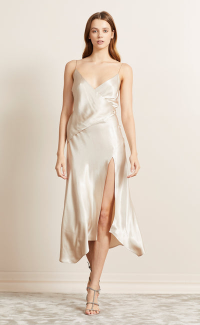 MOON DANCE WRAP DRESS - SAND