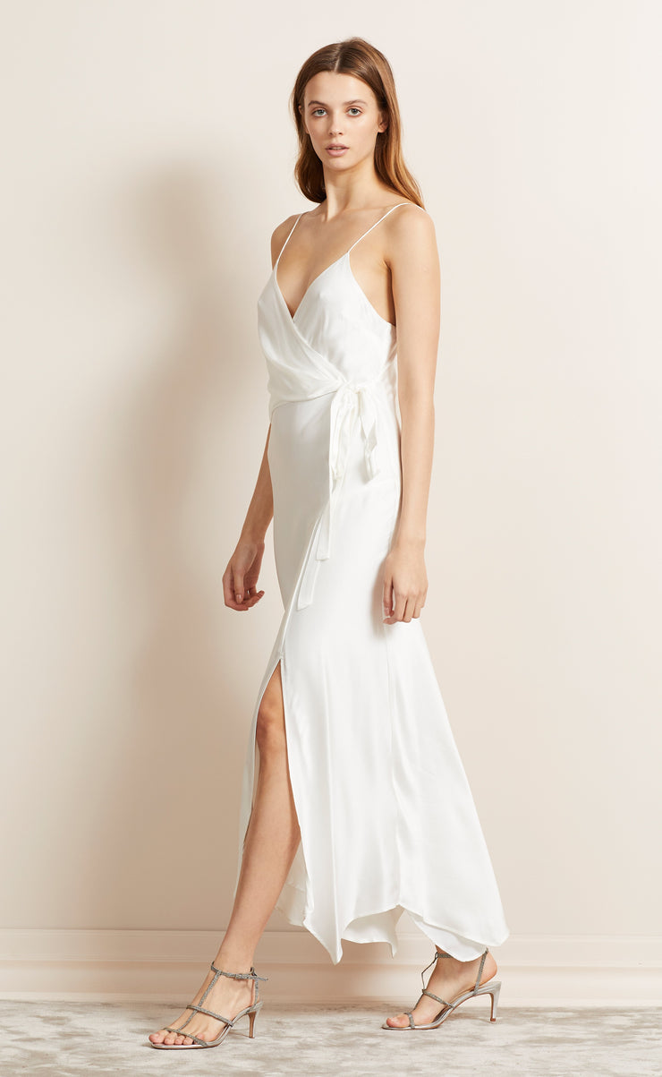 HEARTBEAT WRAP DRESS - IVORY