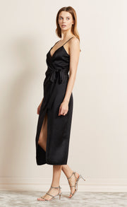 ALL NIGHT MIDI DRESS - BLACK