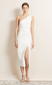 BE MINE ASYM DRESS - IVORY