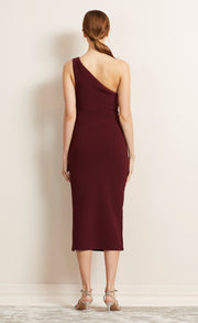 BE MINE ASYM DRESS - BURGUNDY