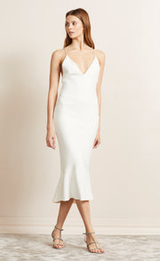 BE MINE FLUTE DRESS - IVORY
