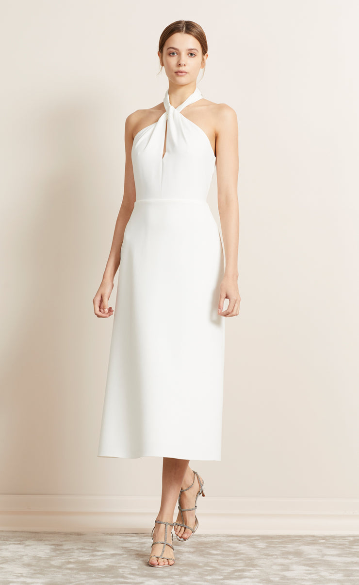 FOREVER YOUNG HALTER DRESS - IVORY