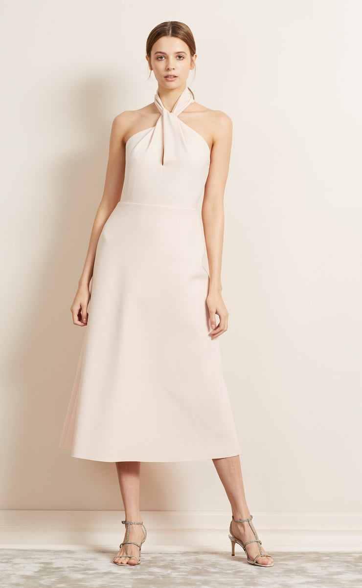 FOREVER YOUNG HALTER DRESS - BLUSH