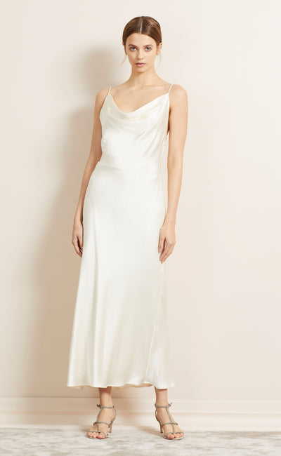 THE DREAMER COWL DRESS - IVORY