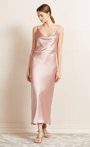THE DREAMER COWL DRESS - BLUSH