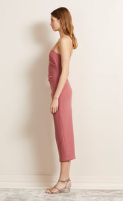 BE MINE MIDI DRESS - LIPSTICK