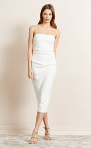 BE MINE MIDI DRESS - IVORY