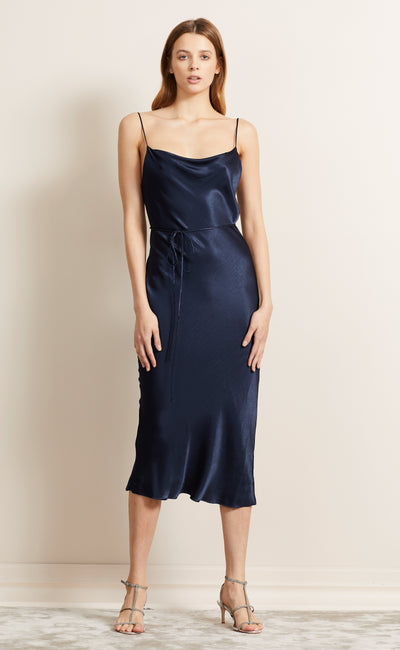 MOON DANCE SLIP DRESS - NAVY