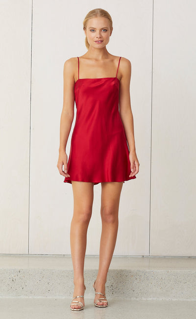 CLASSIC MINI DRESS - CRIMSON