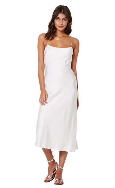 GIRL TALK SLIP DRESS - IVORY
