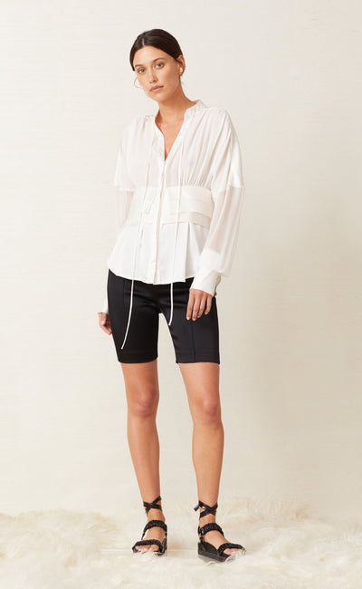 SILK BLOUSE - IVORY