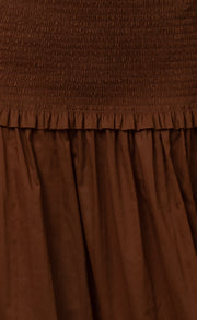 CARRIE MAXI SKIRT - TOFFEE