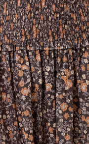 JANICE COTTON MIDI SKIRT - PRINT