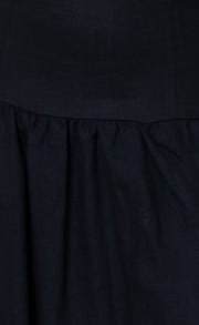 OCELOT MIDI SKIRT - BLACK