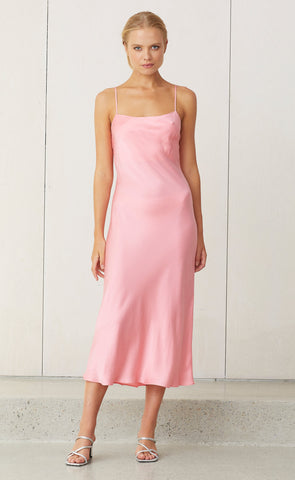 CLASSIC MIDI DRESS - FLAMINGO