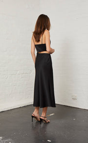 CLAUDIA CUT OUT DRESS - BLACK