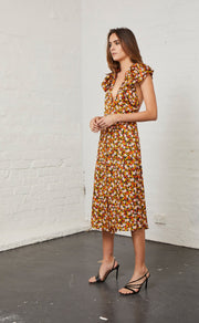 NEW ROMANTICS MIDI DRESS - FLORAL PRINT