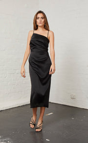 CLAUDIA ASYM DRESS - BLACK