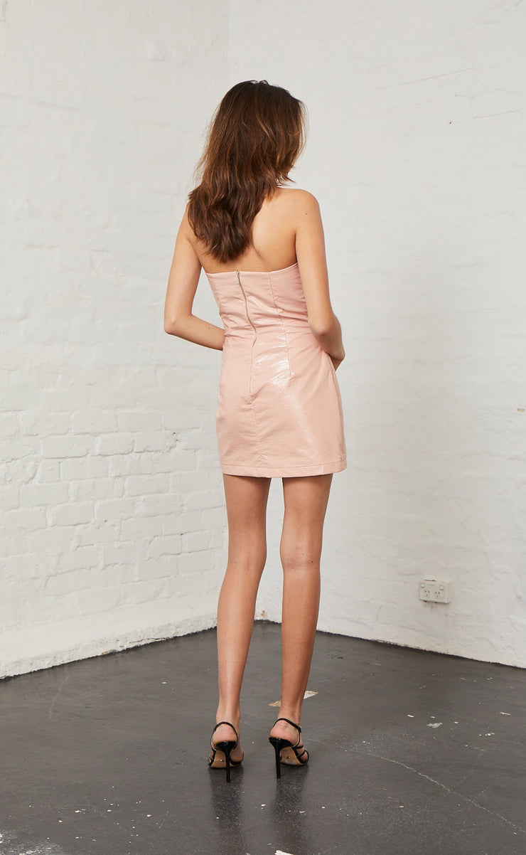SLICK RICK DRESS - NUDE