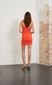 SPICY LADY MINI DRESS - FLAME