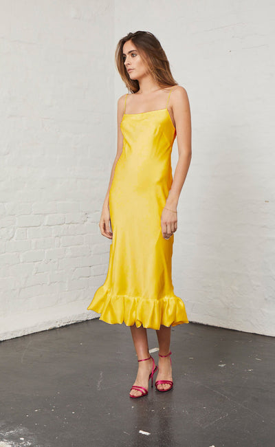HONEY HONEY SLIP DRESS - MARIGOLD