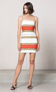 GOLDIE MINI DRESS - MULTI STRIPE