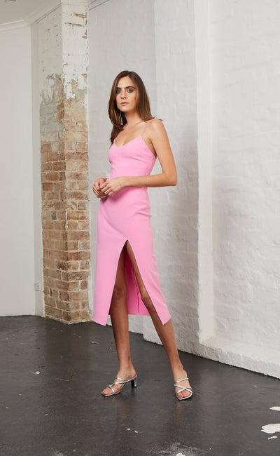 MARGAUX PANEL DRESS - FUCHSIA