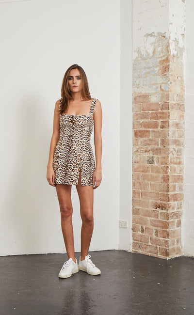 SUPER FREAK DRESS - LEOPARD PRINT