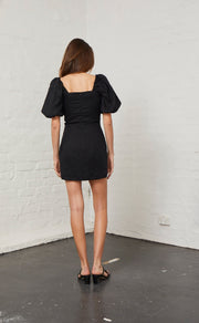 LOVE ADDICTION DRESS - BLACK