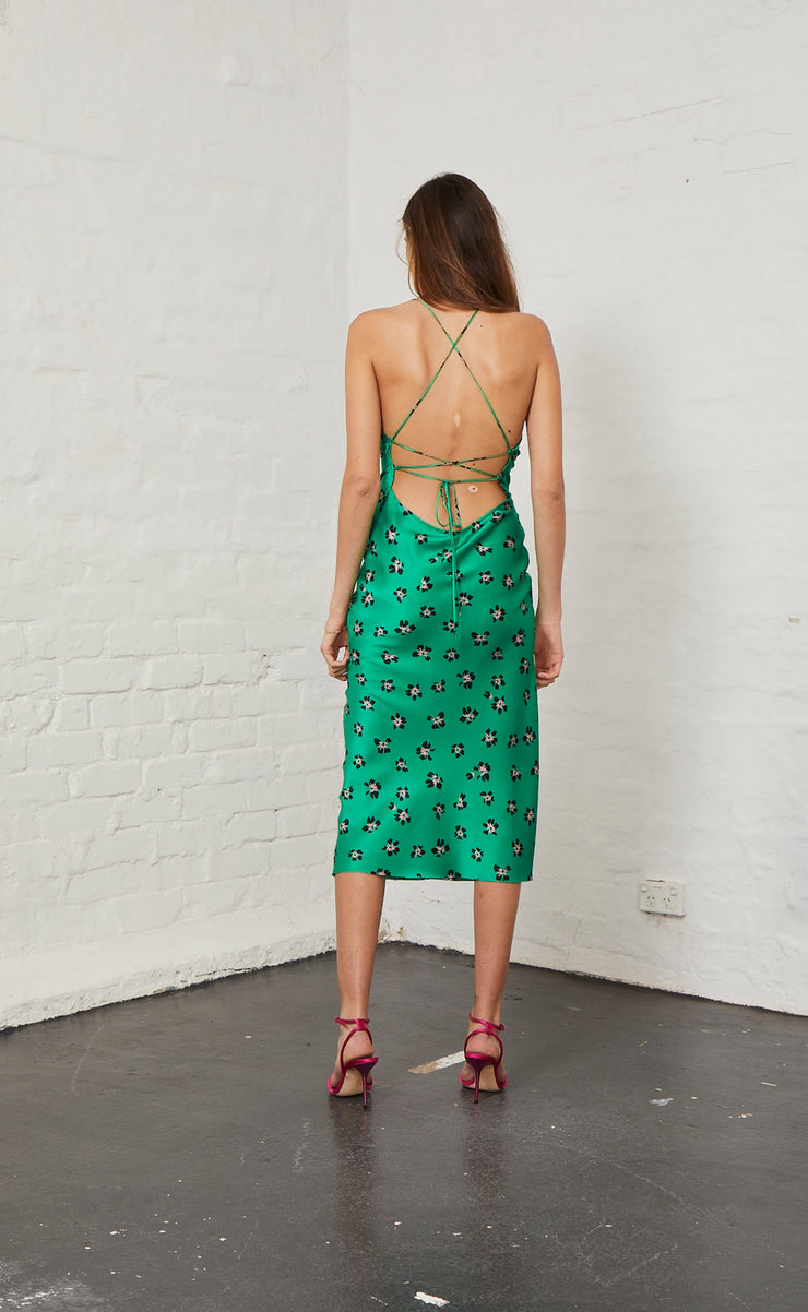 TROPICANA MIDI DRESS - TROPICAL PRINT