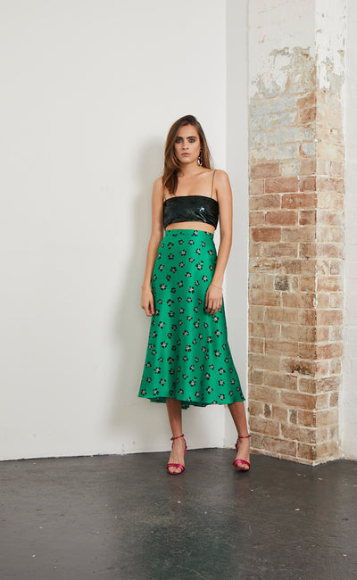TROPICANA MIDI SKIRT - TROPICAL PRINT