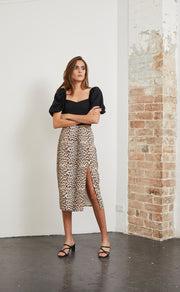 SUPER FREAK SKIRT - LEOPARD PRINT