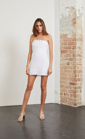 POOLSIDE VIBES DRESS - IVORY