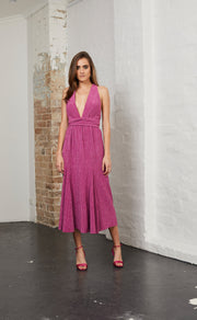 ELECTRIC BOOGIE DRESS - MAGENTA