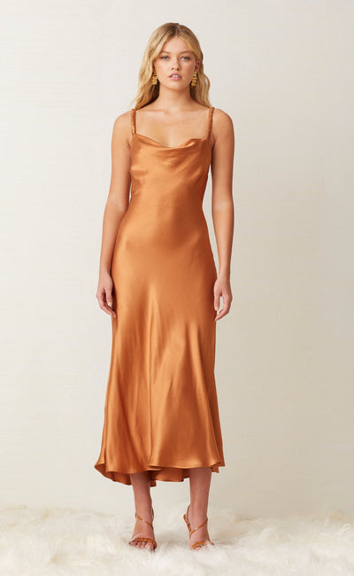 LANI MIDI DRESS - CARAMEL