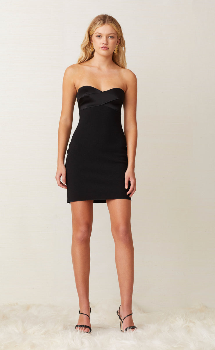 SHORE BREAK MINI DRESS - BLACK
